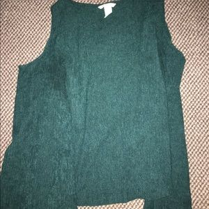 green h&m long sleeve shirt with shoulder cut outs